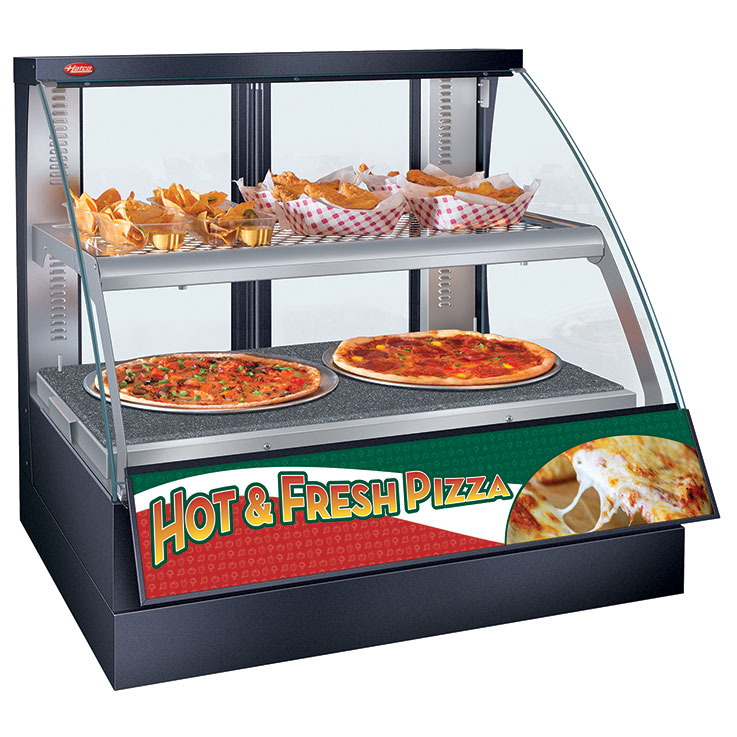 FSCD/FSCDH Flav-R-Savor Convected Air Curved Front Display Case