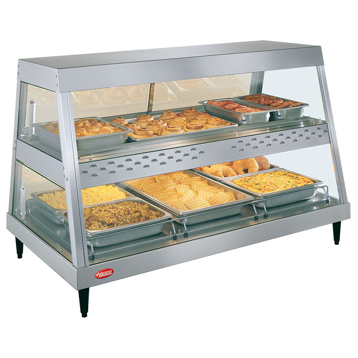GRHD Glo-Ray Heated Display Case | Hot Food Merchandiser