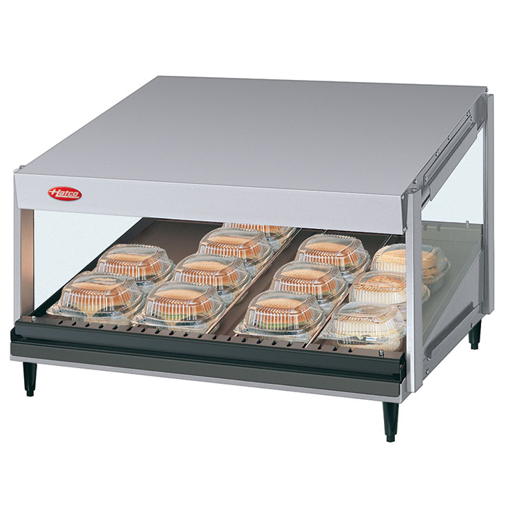 GRSDS Glo-Ray Merchandising Warmer | Slant Shelf Foodwarmer