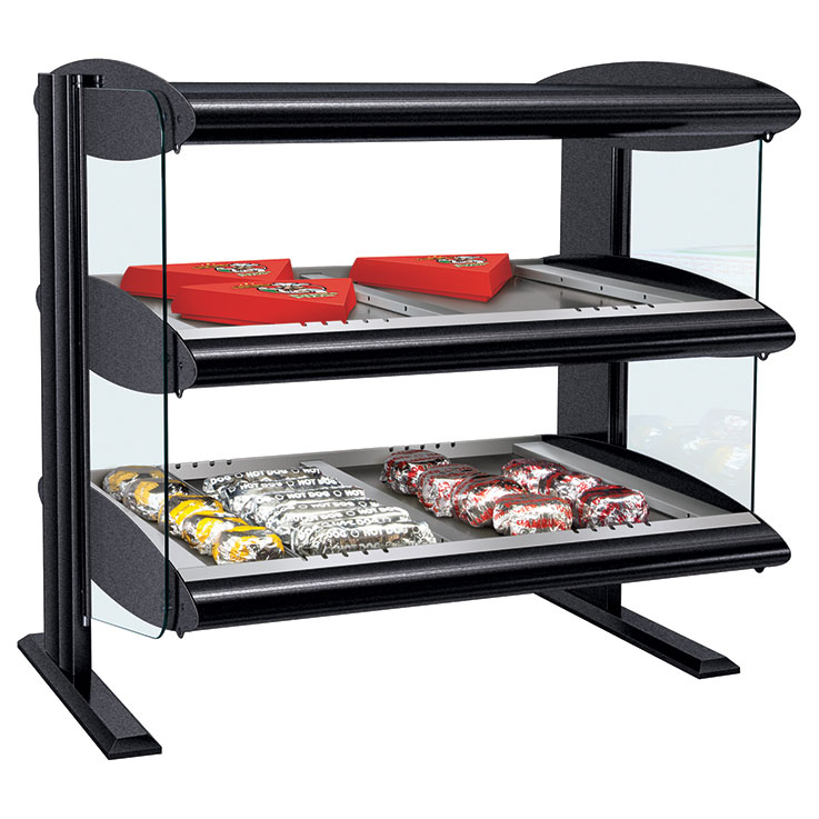 HZMH-xxD Heated Zone Merchandiser | Dual Shelf Food Display