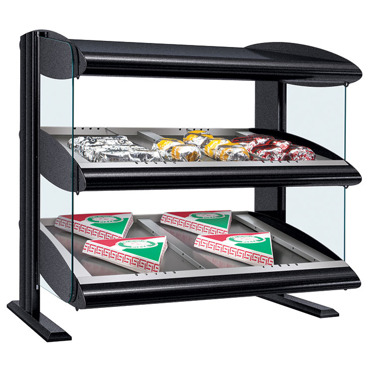 HZMS-D Heated Zone Merchandiser | Slant Dual Shelf Heating