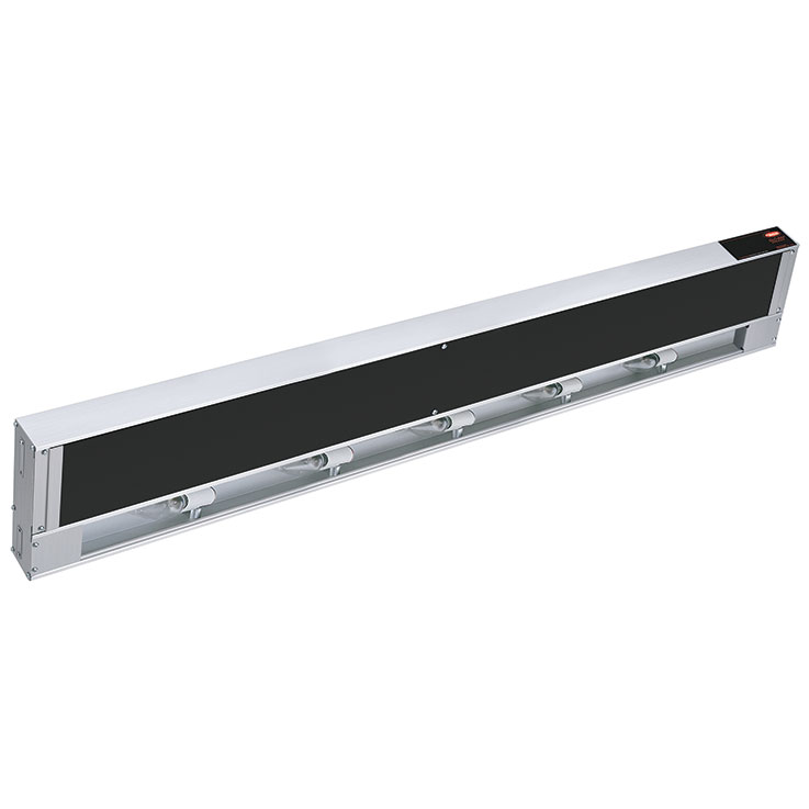 GRAIHL Glo-Ray Infra-Black Aluminum Strip Heater with Lights