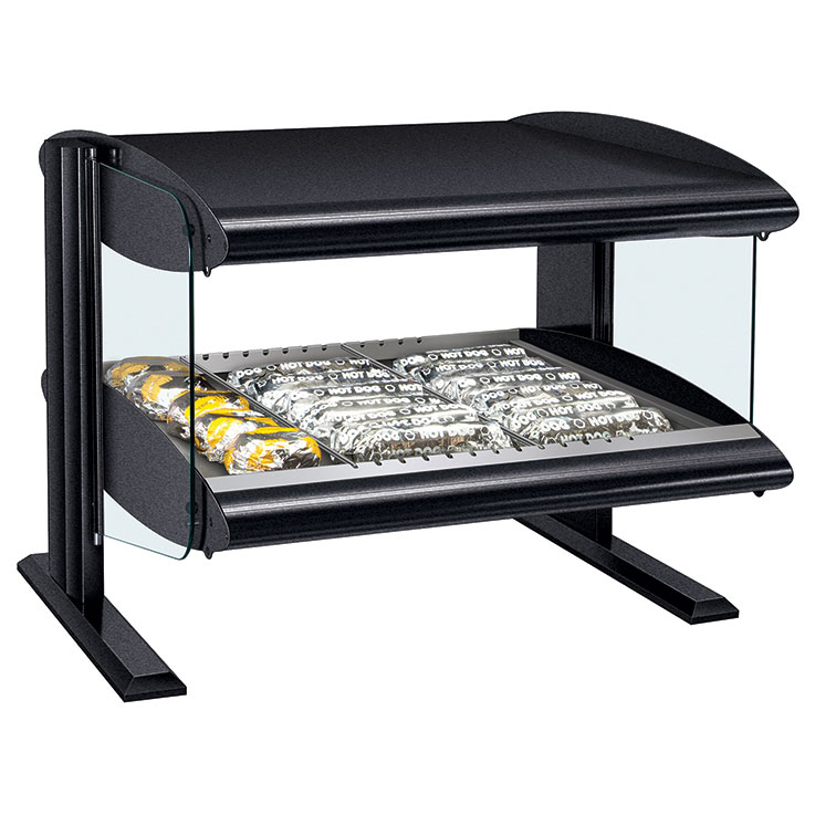 HXMH Heated LED Merchandiser | Single Shelf Hot Food Display