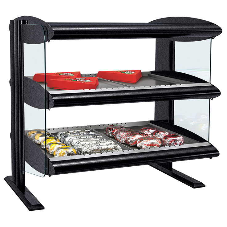 HXMH-D Heated LED Merchandiser | Dual Shelf Food Display