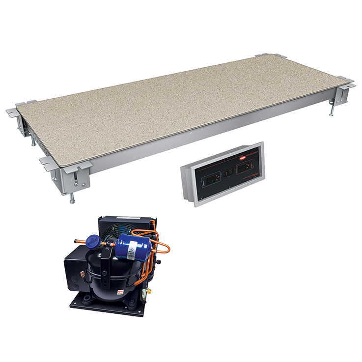 Hatco HCSSBR Remote Built-In Swanstone Heated & Cold Food Shelf