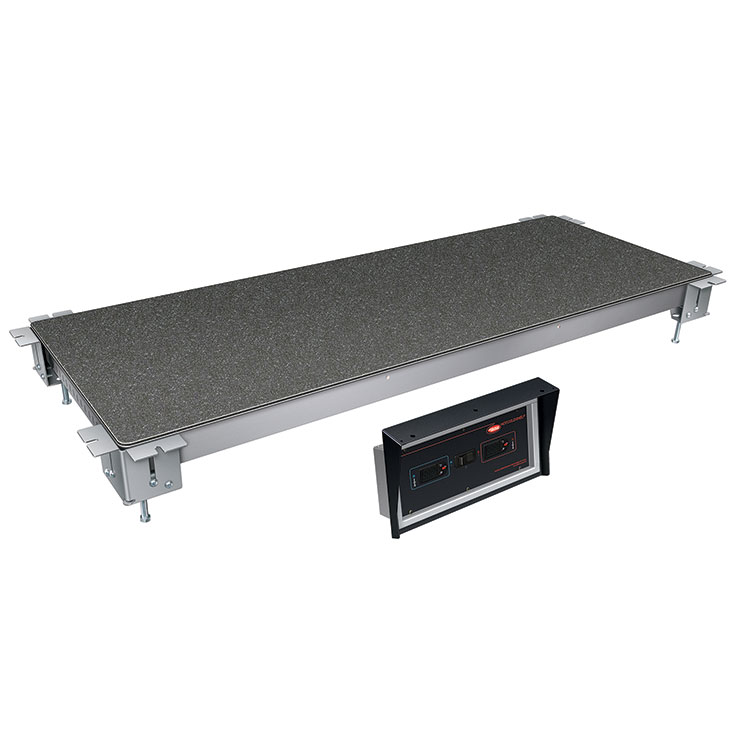 Hatco HCSSBX Remote Built-In Heated & Cold Display Food Shelf