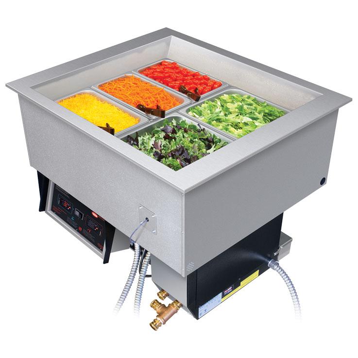 Recipientes para alimentos fríos y calientes | Recipiente de encastre vertical para alimentos HCWBI | Temperatura dividida