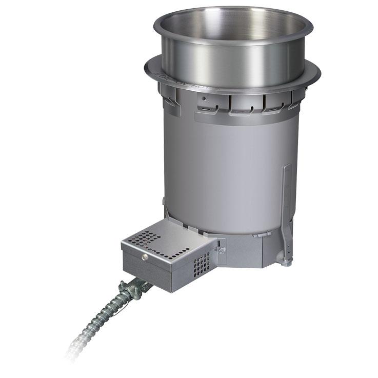 Calentador comercial de sopas de Hatco | Recipiente redondo para alimentos calientes HWB-QT