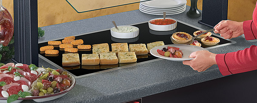 Hatco Built-In Heated Glass Shelves For Food Displays