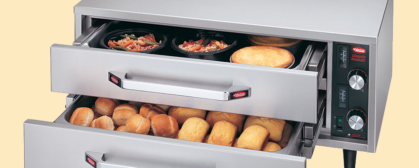 Hatco Stainless Steel Freestanding Split Drawer Warmers