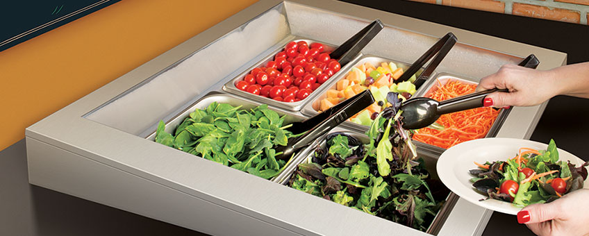 Refrigerated Salad Bars | Drop-In Cold Wells | Pre-Chilled