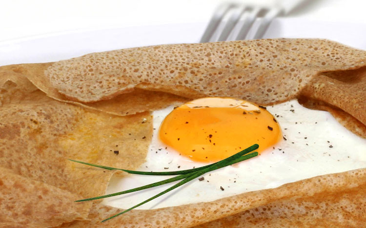 Ham, Egg & Cheese Crepe