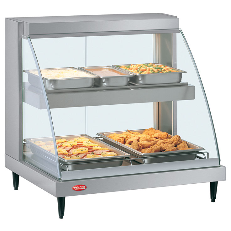 Glo-Ray Designer Heated Display Case | Hot Food Merchandiser