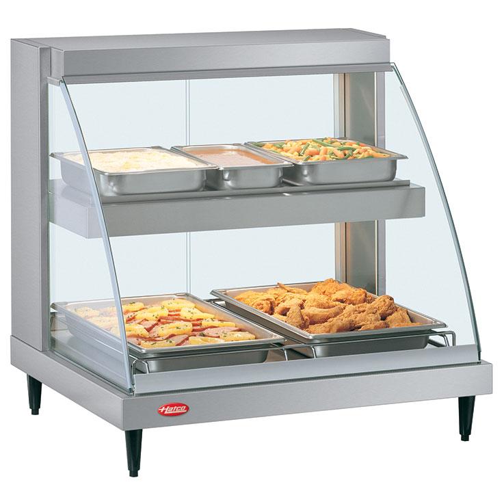 Hot Food Merchandisers Heated Food Display Cases