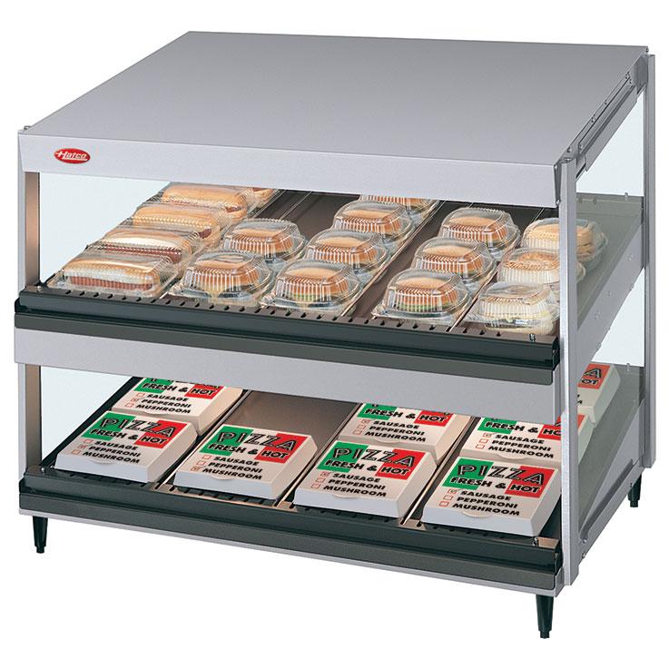 GRSDS-xxD Glo-Ray Merchandising Warmer | Dual Slant Shelf