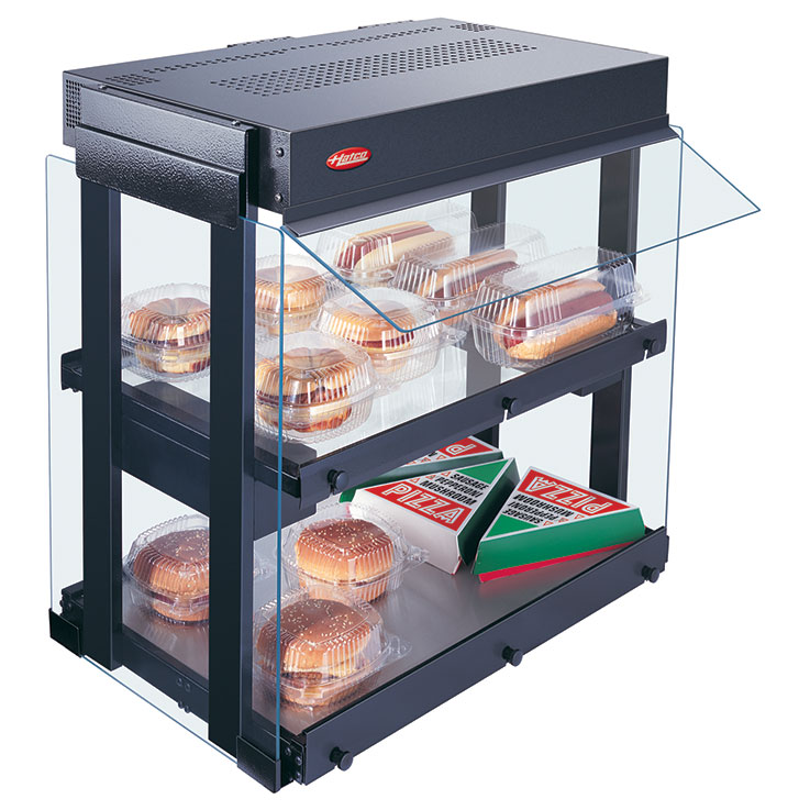 GRHW-xSGD Glo-Ray Heated Glass Mini Hot Food Merchandiser