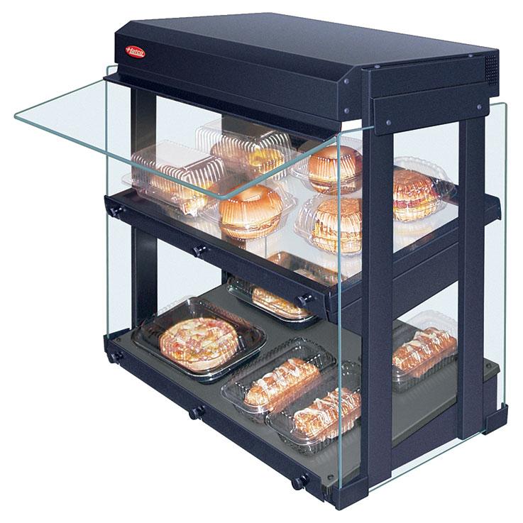 GRHW-xSGDS Glo-Ray Heated Glass Mini-Merchandiser Display
