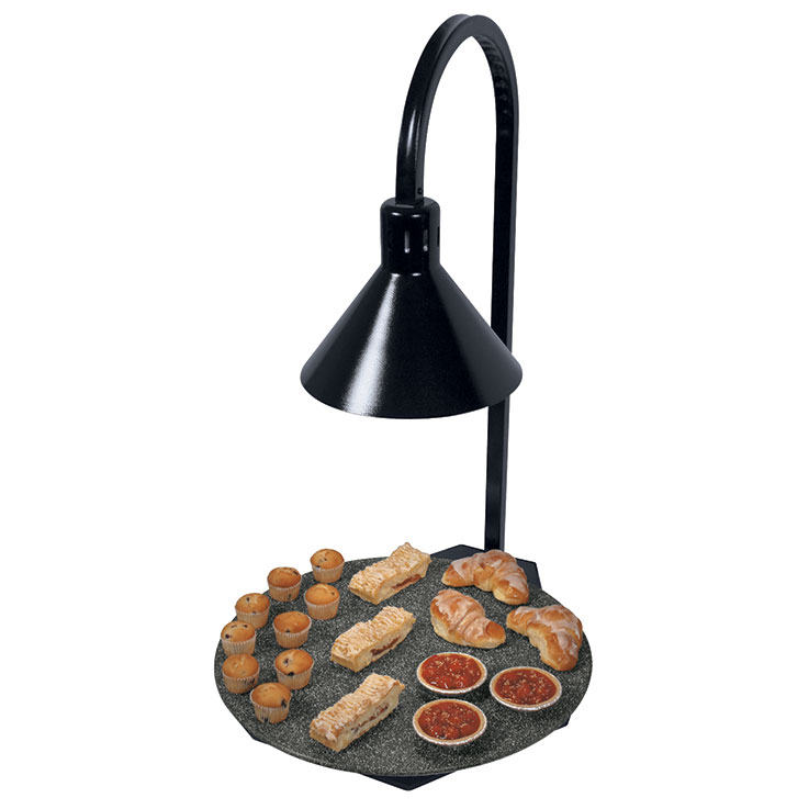 Hatco Portable Round Heated Simulated Stone Shelf with Lamp