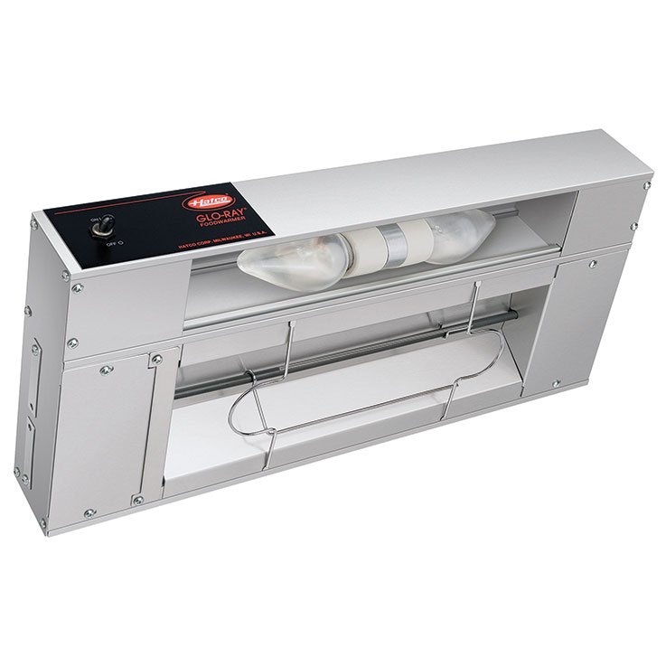 Hatco GRAL/GRAHL Glo-Ray Infrared Strip Heater With Lights on