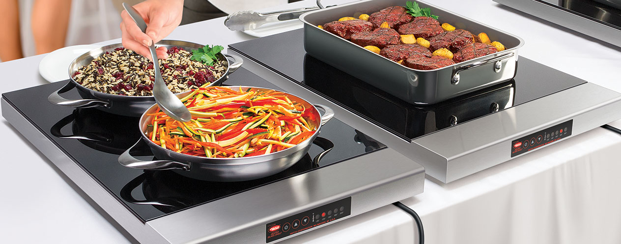 Heated Glass Modular Shelf   Portable Foodwarming Shelves