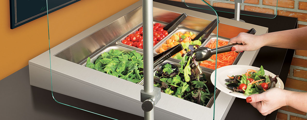 Refrigerated Salad Bars | Drop In Cold Wells | Pre Chilled