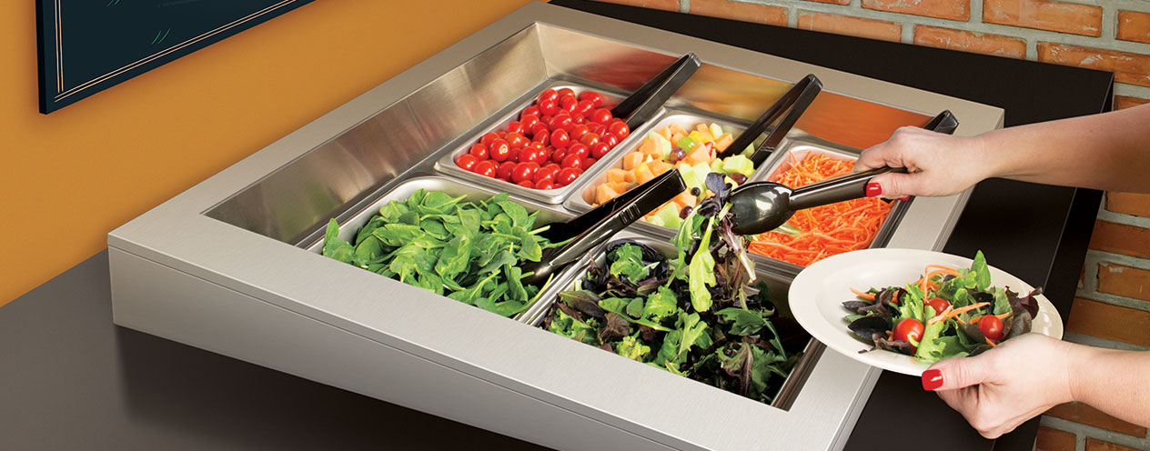Refrigerated Salad Bars   Drop In Cold Wells   Pre Chilled