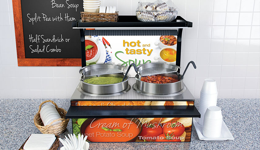 Double Heated Soup Station | 7 And 11 Quart Pans | Soup Heater