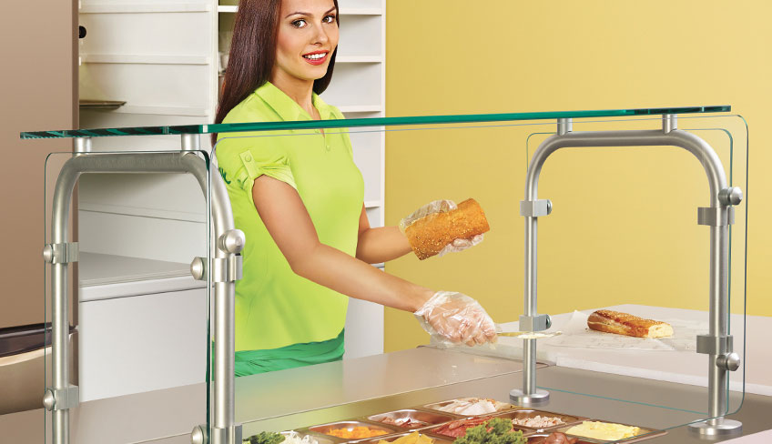 Hatco Counter Post Sneeze Guards For Food Serving Stations