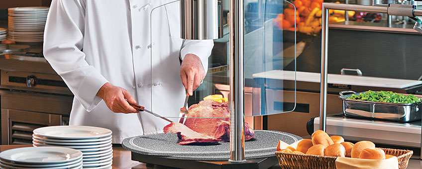 Carving stations large round portable decorative