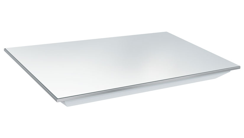 HGB-2418 Portable Rectangular Heated Base Glass Shelf
